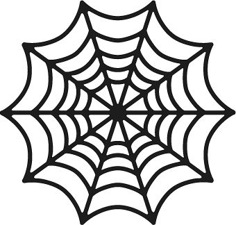 Drawn spider web real 1432 on Spiderweb images Stencils