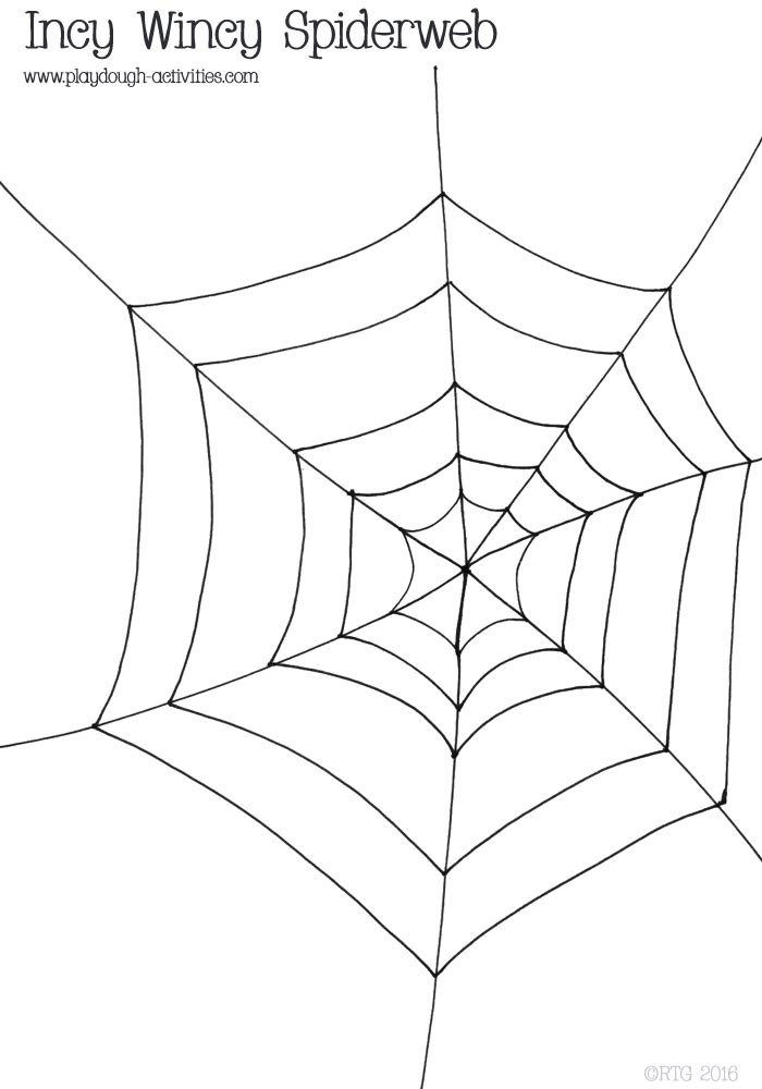 Drawn spider template Line outline Blick outline spiderweb