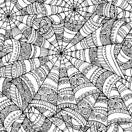 Drawn spider web doodle About 101 Pinterest art Vector
