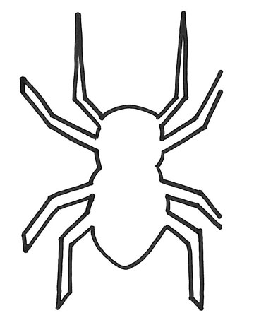 Drawn spider template Drawn Template; Halloween silhouette cut