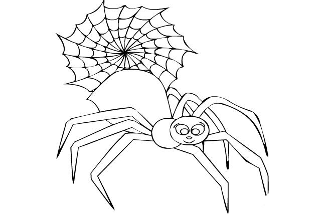 Drawn spider template Spider Download Crafts Pages