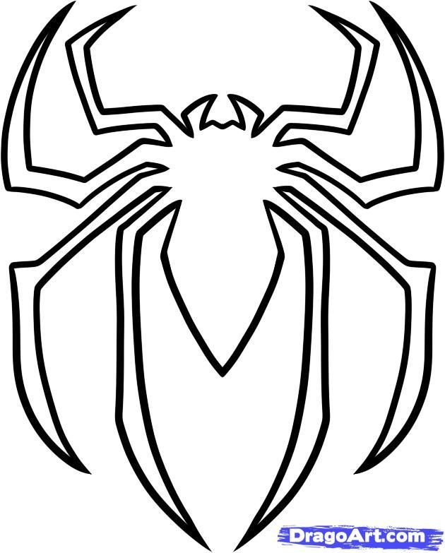 Drawn spider template For on Gallery Template Spider