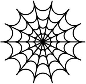 Drawn spider template Stencil Pinterest spiderweb 25+ drawing