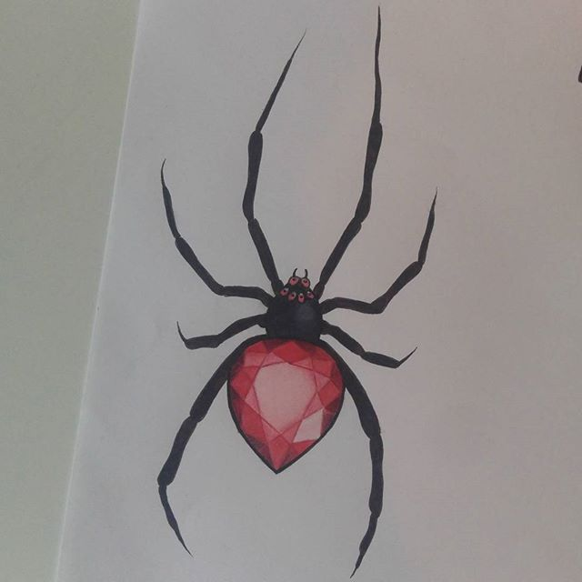 Drawn spider tiny #7