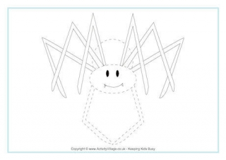 Drawn spider tracing Spider Page Tracing Spider Printables