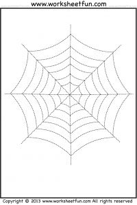 Drawn spider tracing On Halloween images and grafomotorika