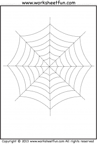Drawn spider tracing Halloween Printable Web – Spider