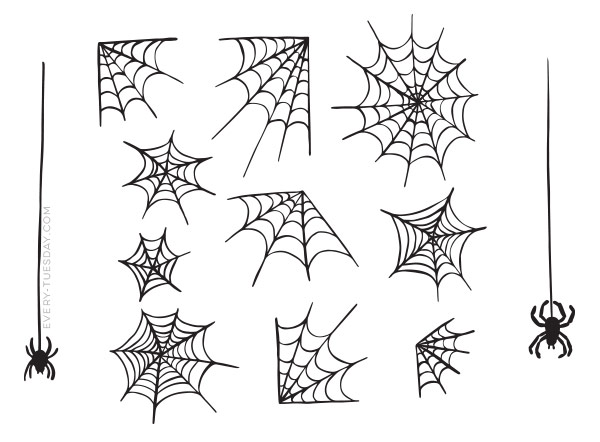Drawn spider web Vector Webs Drawn drawn Spider