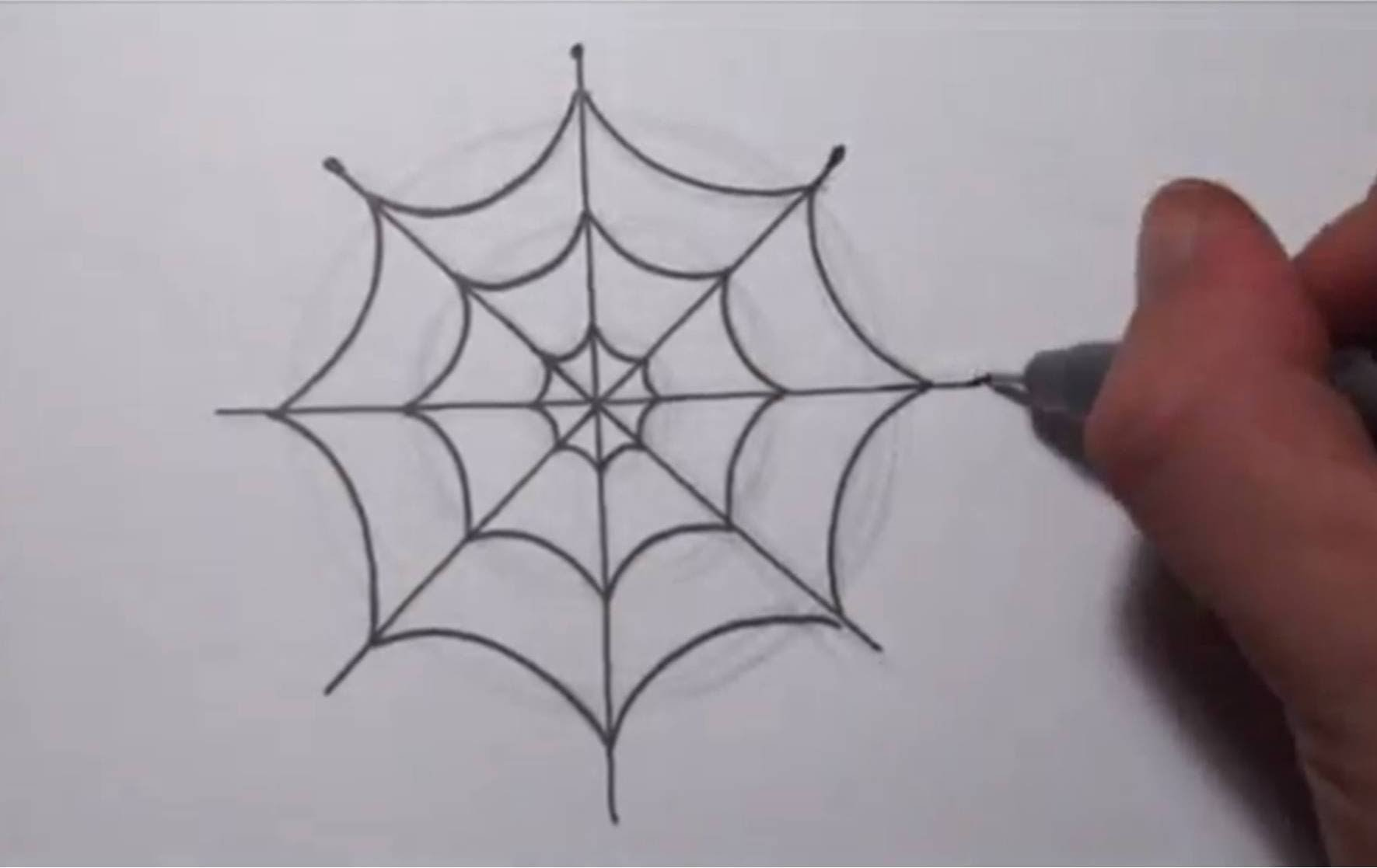 Drawn spider easy How  YouTube Simple To