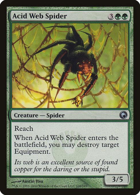 Drawn spider web acid · Search Spider of Magic