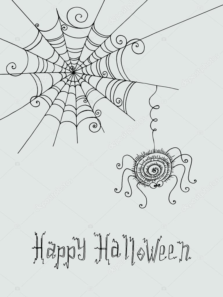 Drawn spider web cute And Stock Spider Cute background