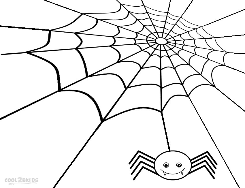 Drawn spider web detailed Spider Spider Pages Web Coloring
