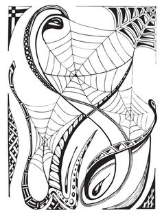 Drawn spider web doodle Tattoo Search  SPIDER Pinterest