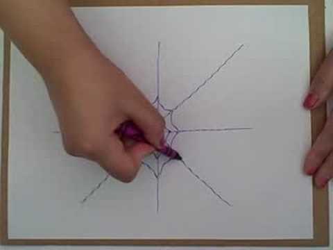 Drawn spider web drawing #14