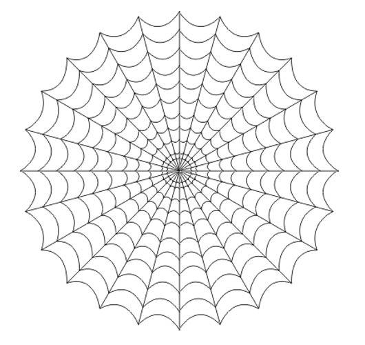 Drawn spider web drawing #12