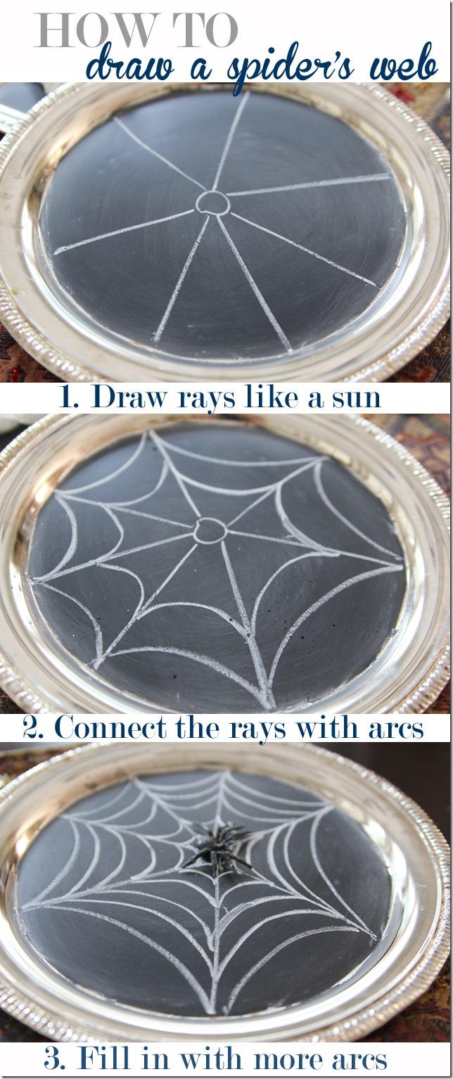 Drawn spider web drawing #10