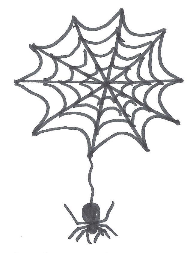 Drawn spider web drawing #5