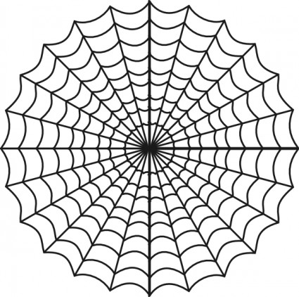 Drawn spider web drawing #11