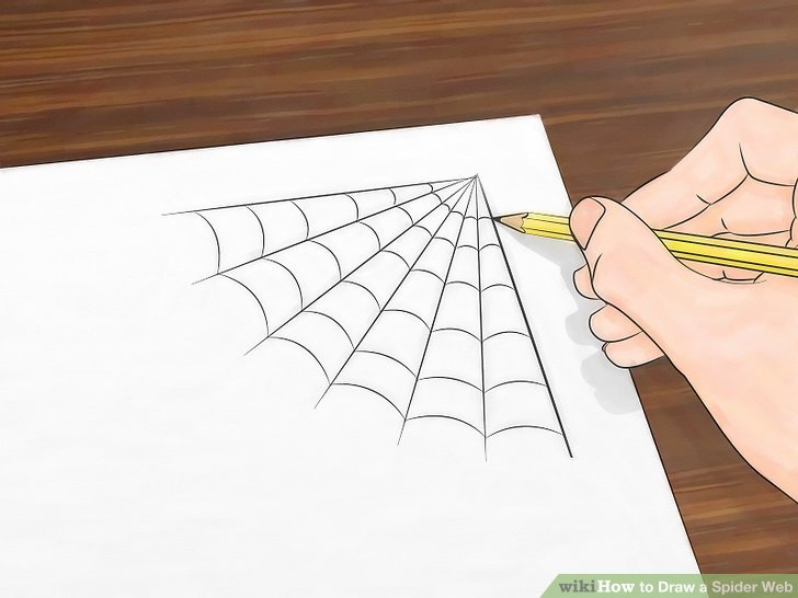 Drawn spider web cute Titled a Image Step 3