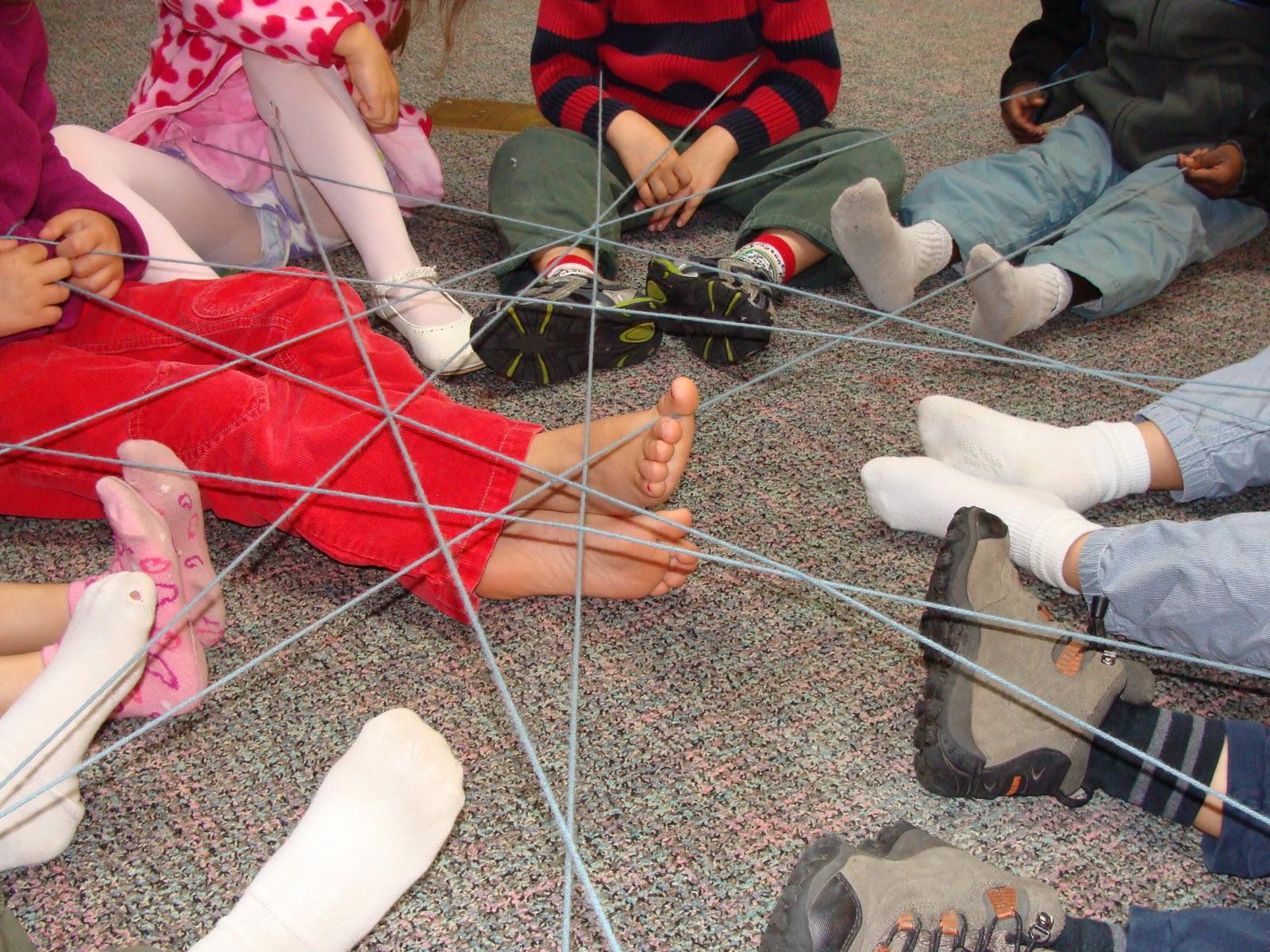Drawn spider web human Of yarn their Kindergarten Time