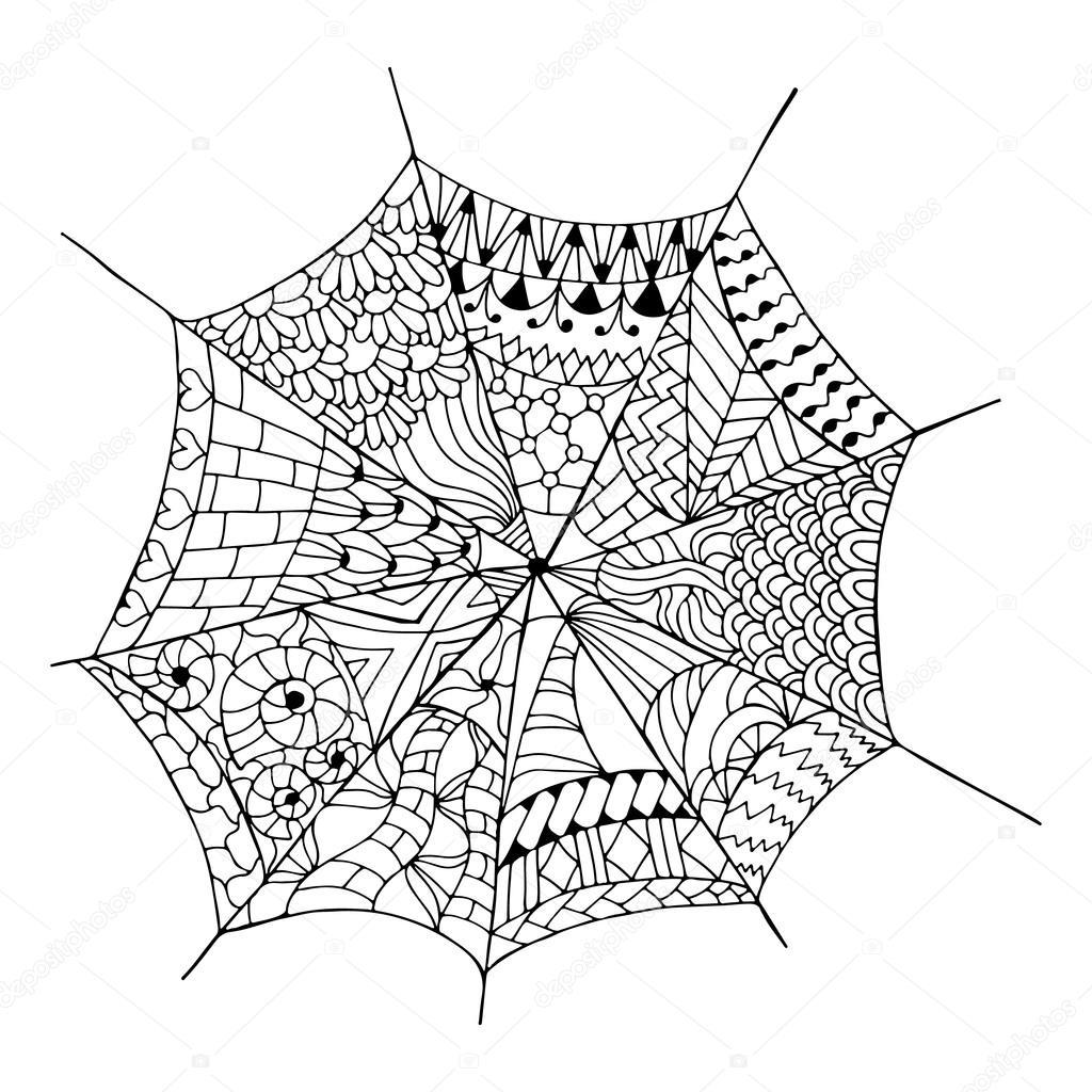 Drawn spider web internet Web web drawn Hand Stock