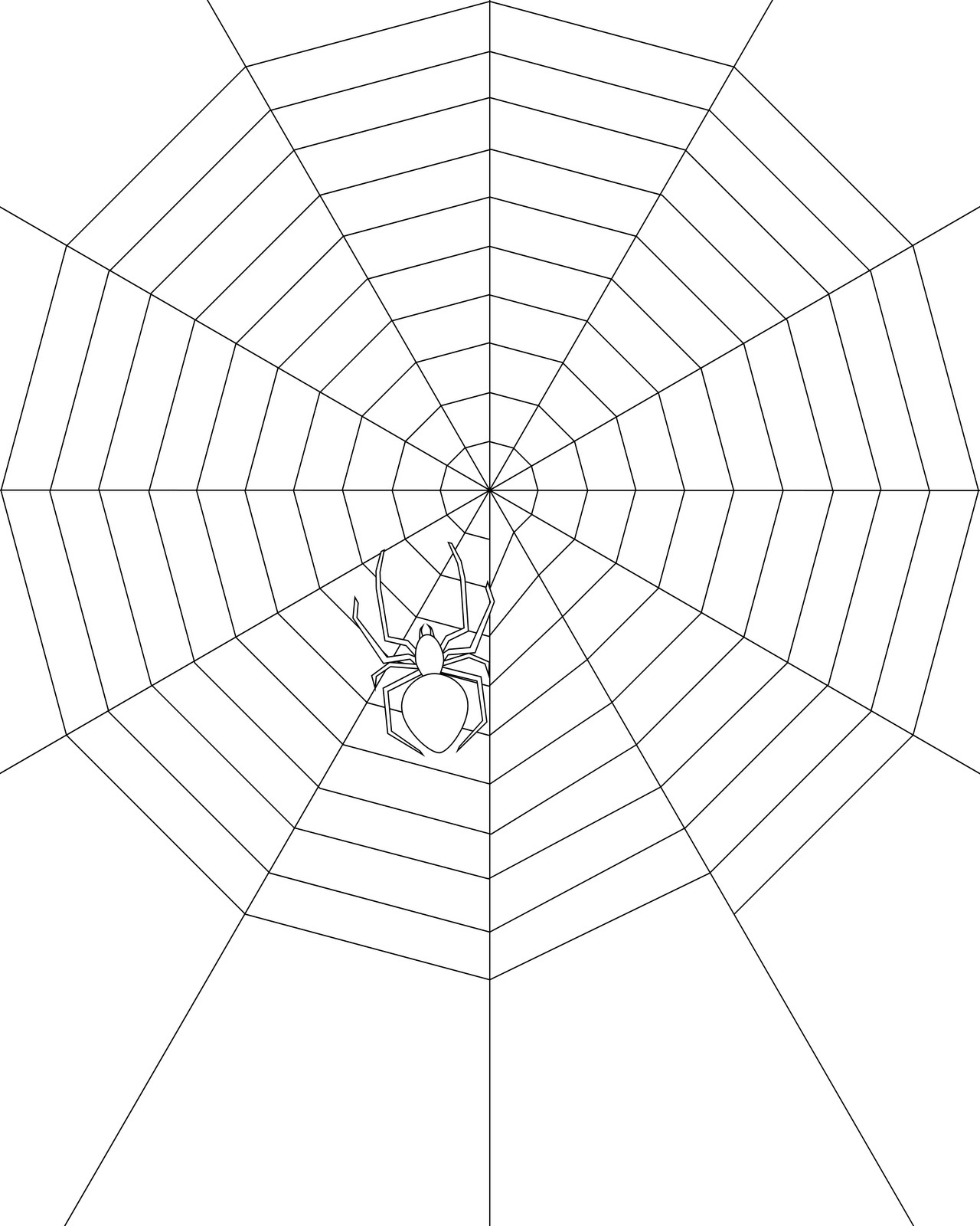 Drawn spider web kids Page Spider Web com Coloring