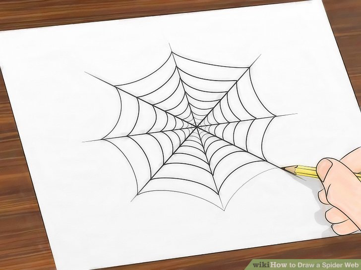 Drawn spider web cute Titled a Image Step 7