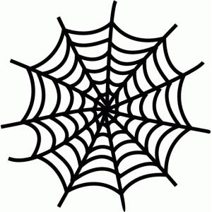 Drawn spider web silhouette Halloween View web spider Design