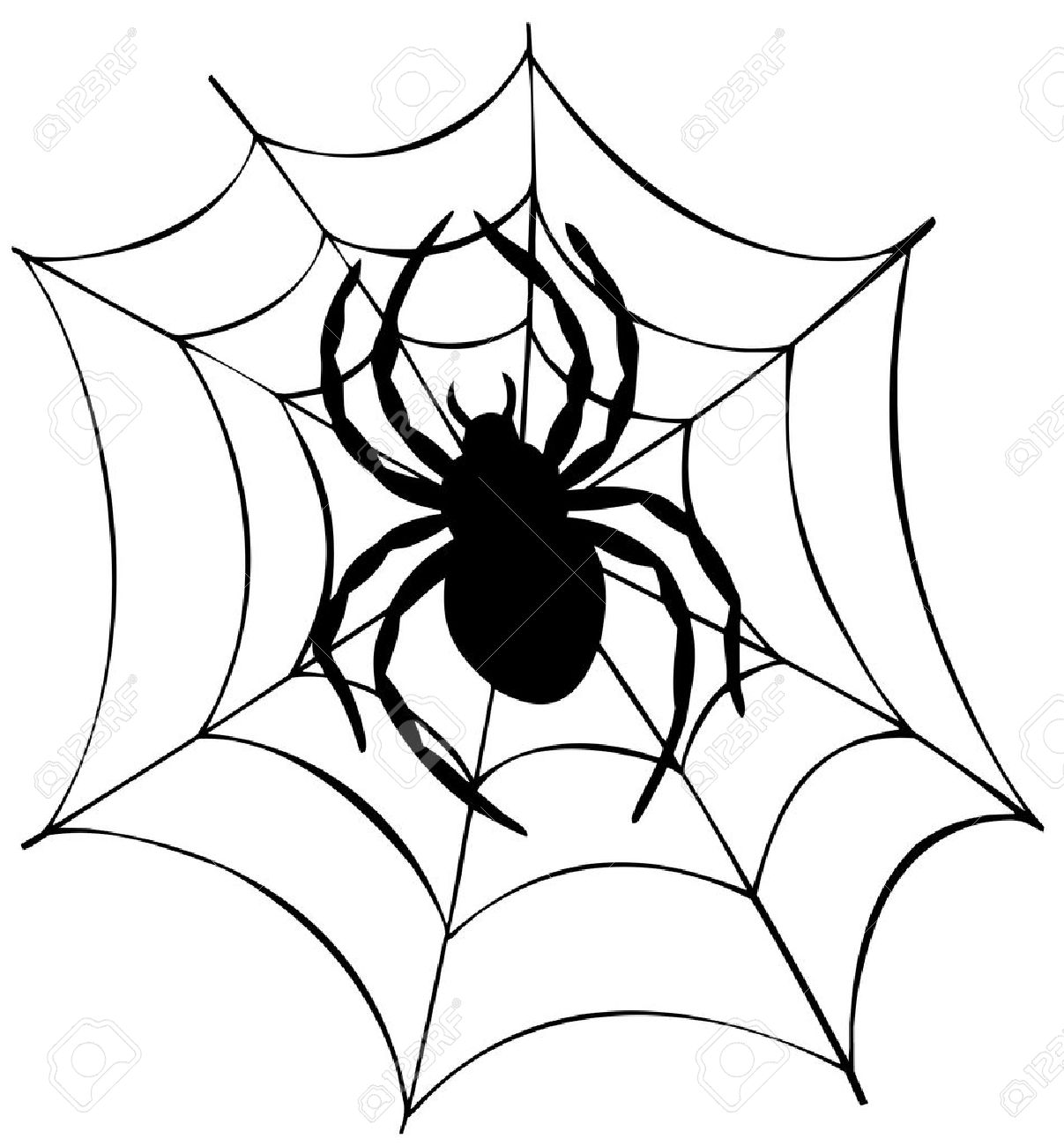 Drawn spider web silhouette In Silhouette Spider : Web