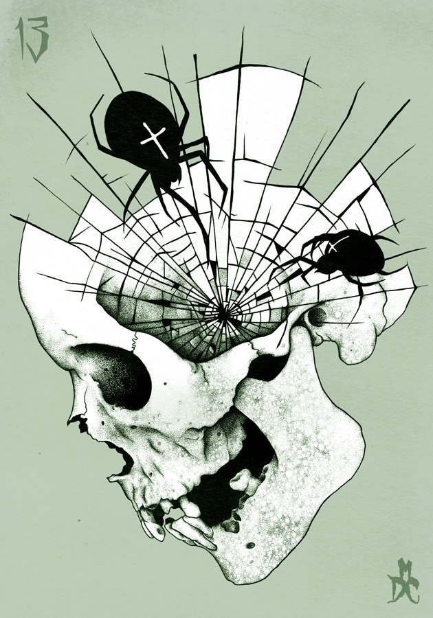 Drawn sugar skull creepy Web tattoo Pinterest designs