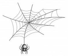 Drawn spider web background corner Black Stock Widow for Image: