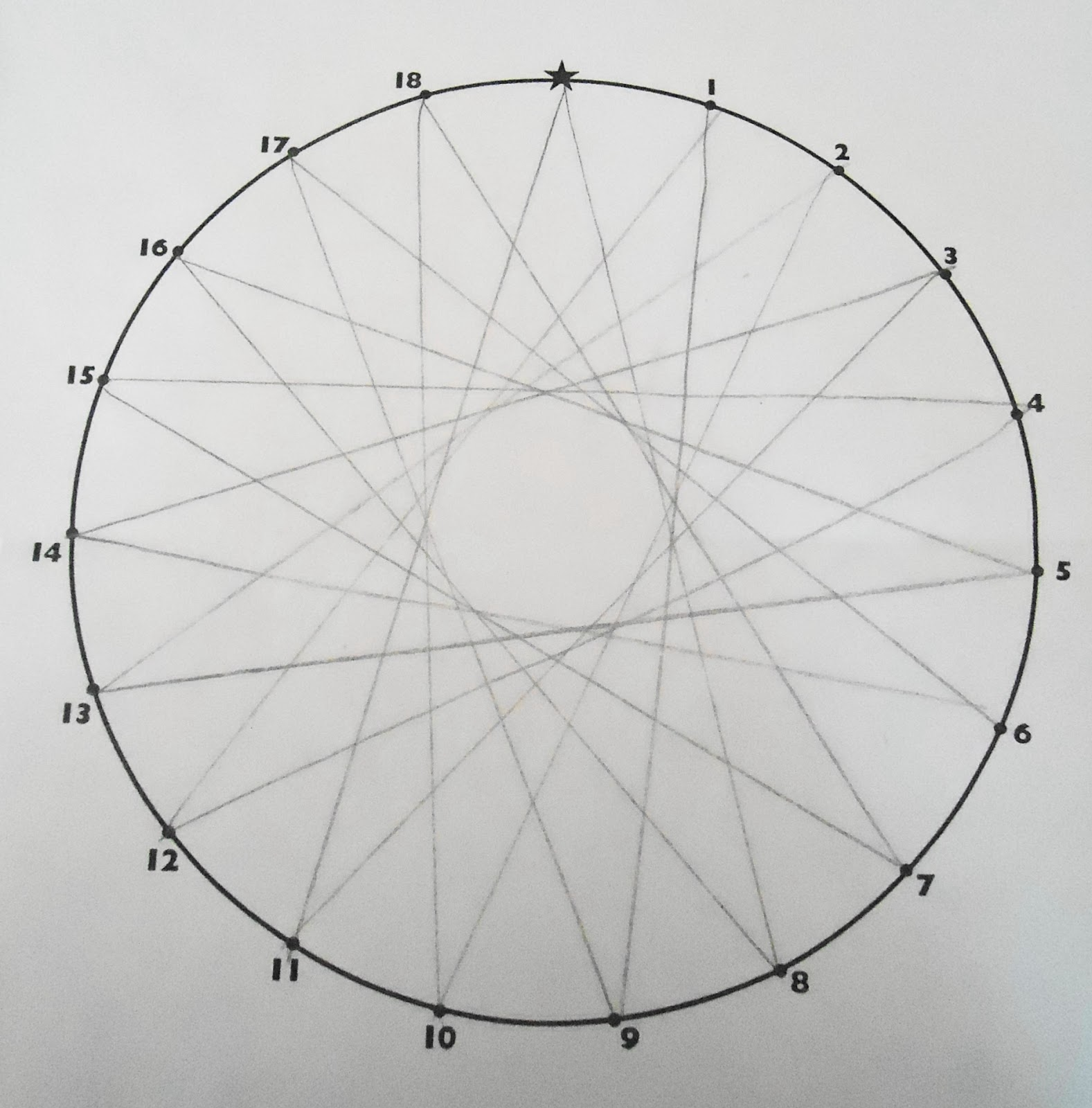 Drawn spider web spiral Teaching To with Making number