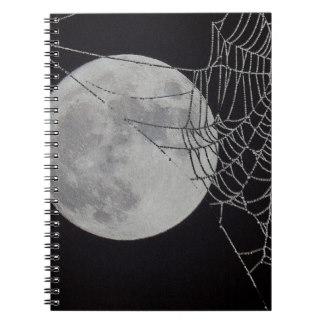 Drawn spider web spiral A Web Zazzle Wide Notebook