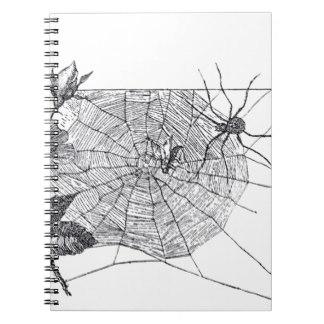 Drawn spider web spiral Zazzle Vintage Spider Journals WEb