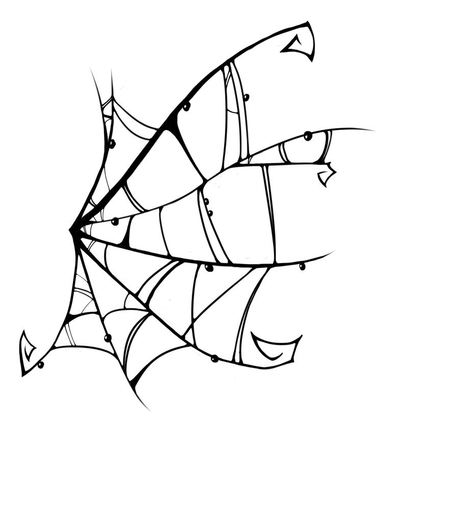 Drawn spider web tribal On @deviantART by  deviantart