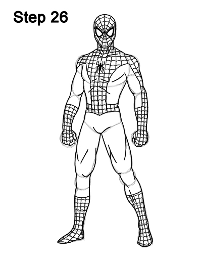 Drawn spider-man Spider Man 26 Body Draw