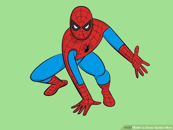 Drawn spiderman Draw titled Image wikiHow Spider