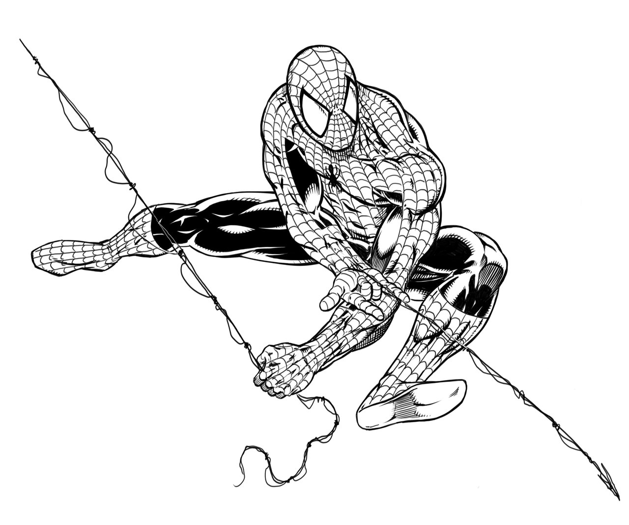 Drawn spider web spiderman Spiderman Realistic Beautiful Drawing Images