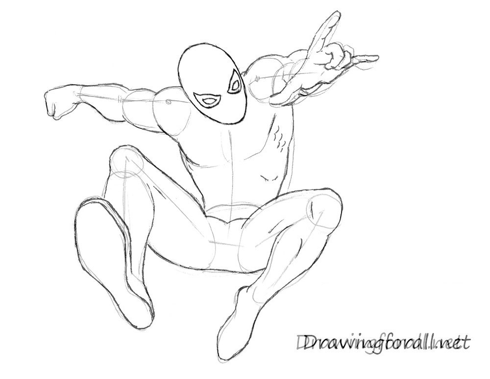 Drawn spiderman Draw to how DrawingForAll net