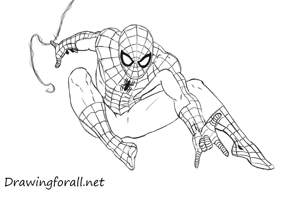Drawn spider-man Draw DrawingForAll to draw man