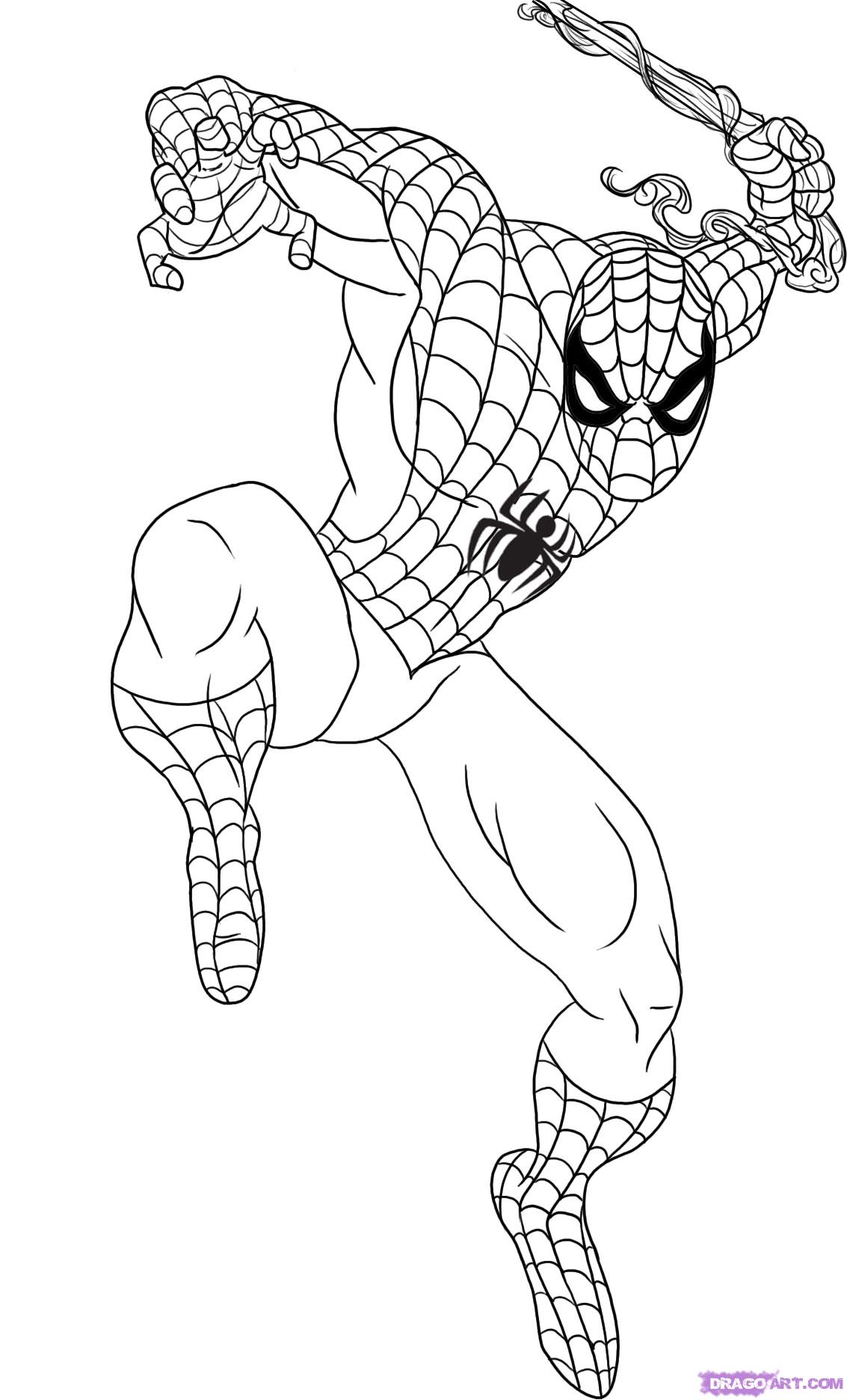 Drawn spider-man Man How  to Spiderman