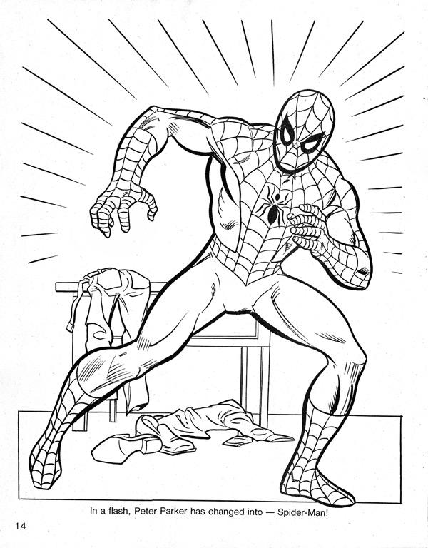 Drawn spider-man coloring book #8