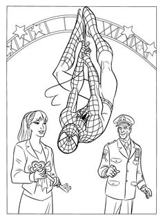 Drawn spider-man coloring book #9