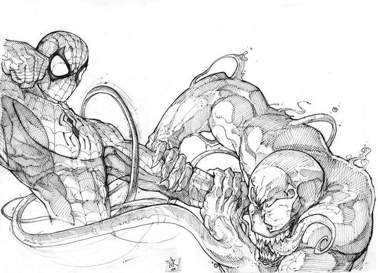 Drawn spiderman fighting Spiderman on B○c☆t○~M@R\/3L and 486