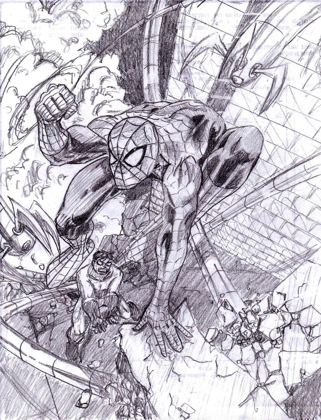 Drawn spiderman fighting Fighting drawntofly Spiderman Fighting Spiderman