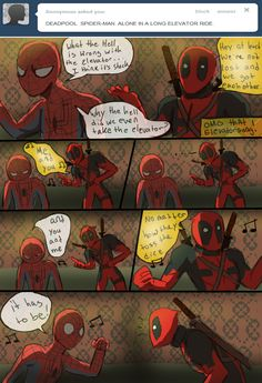 Drawn spiderman funny Spider The and deadpool spiderman