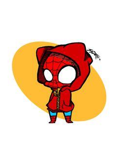 Drawn spiderman funny 6605229 Chibi (240×320) spiderman