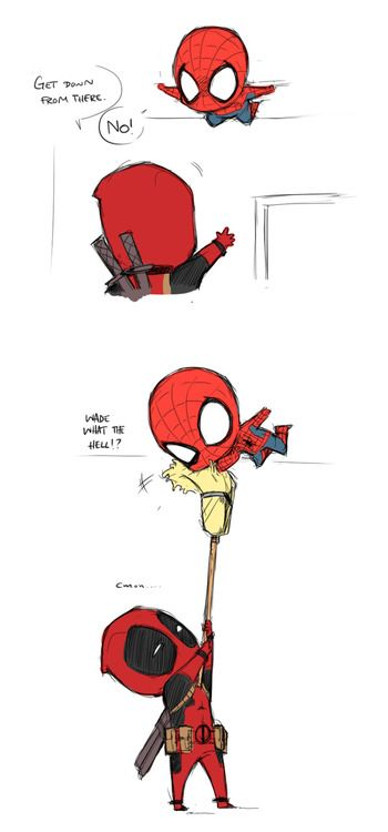 Drawn spiderman funny Pinterest best DEADPOOL AND this