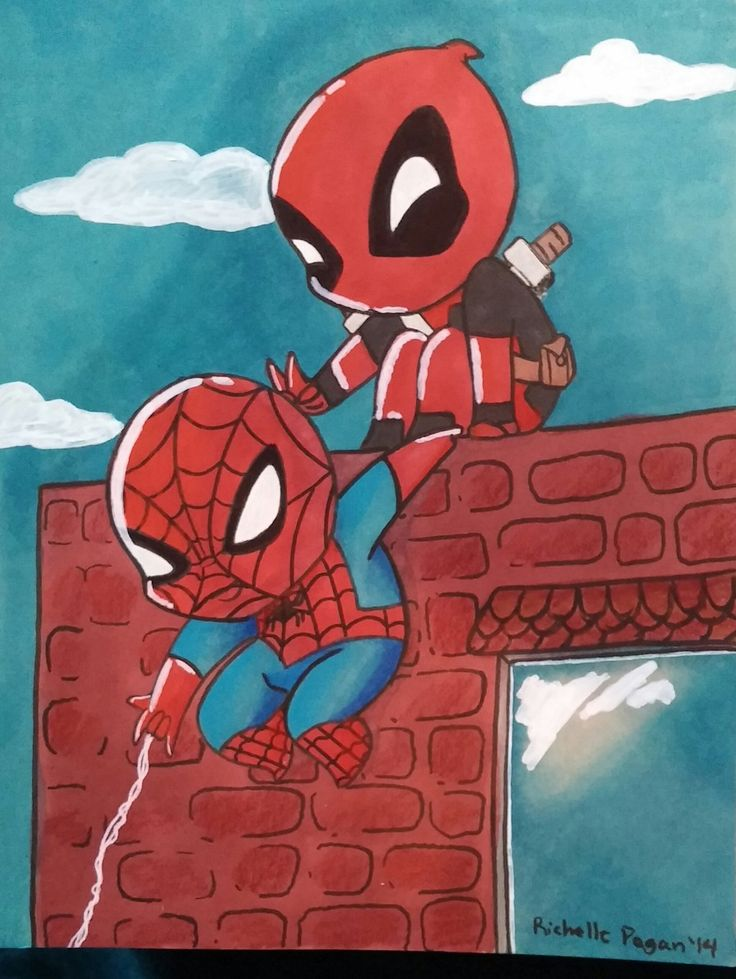 Drawn spiderman funny Head Funny frends For Pinterest