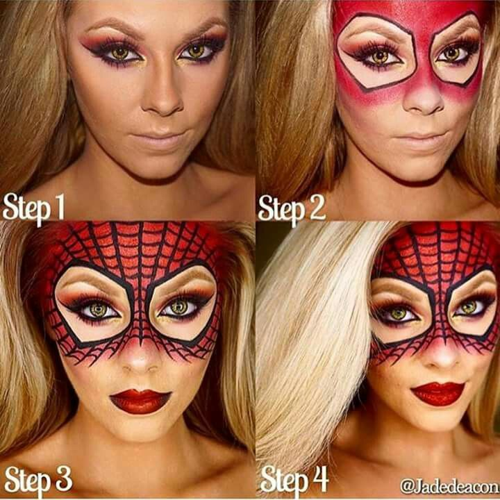 Drawn spiderman lady Ideas Pinterest Spider makeup 25+